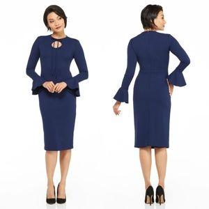 Maggy London, Joanna Midi Dress, Navy, 12